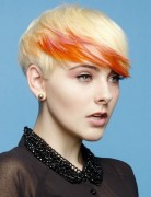 Trendy Short Hair Color Straight Haircuts