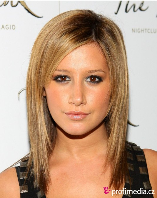 2014 Easy, Medium Straight Haircut, Ashley Tisdale Hair