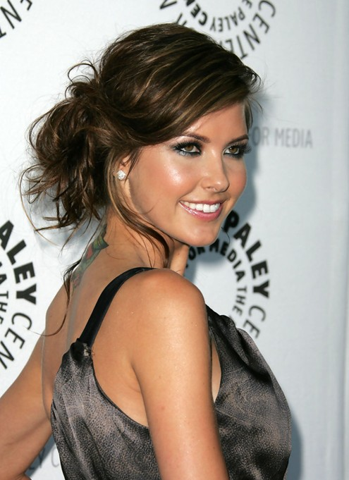Audrina Patridge Hairstyle, Messy Updo with Bangs