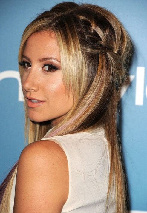 Cute Braided Hairstyles Ashley Tisdale Hair Popular