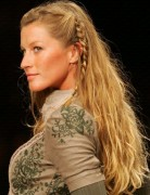 Gisele Bundchens Hairstyles Long Hair with Braid 2014