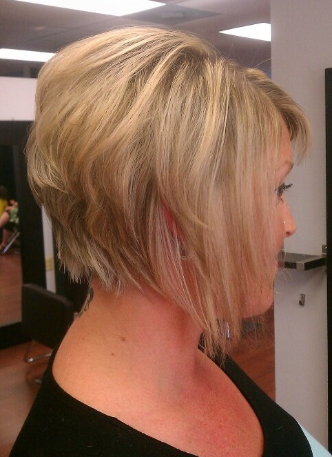 title layered graduated bob hair tutorial stacked bob video