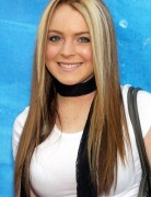 Lindsay Lohan Long Hair, Brown with Blonde Highlights