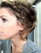 Medium Messy Hairstyles with Braid