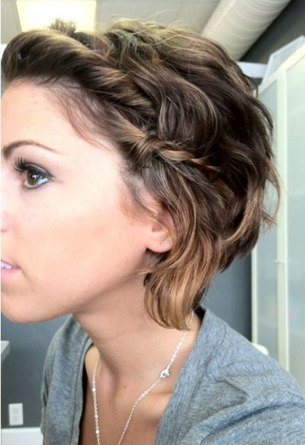 Medium Messy Hairstyles with Braid