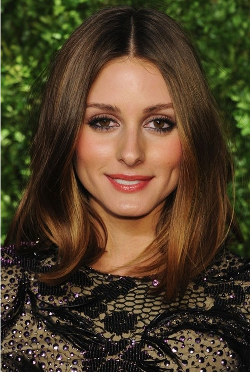 Medium Straight Haircut, Olivia Palermo Hair