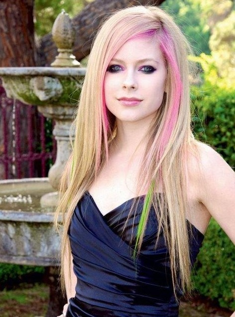 Ombre Hairstyles for Long Hair, Avril Lavigne
