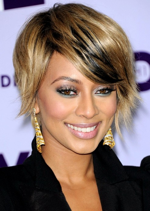 Short Straight Hairstyles for Bangs, Keri Hilson Hair
