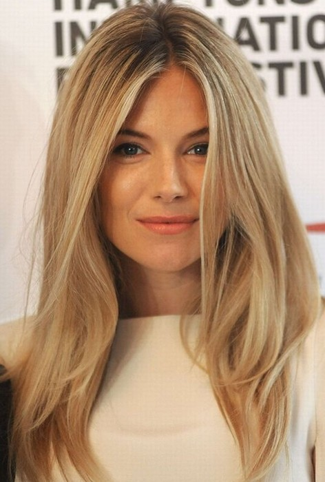 Sienna Miller Hair Style Blonde Straight Hair Popular Haircuts