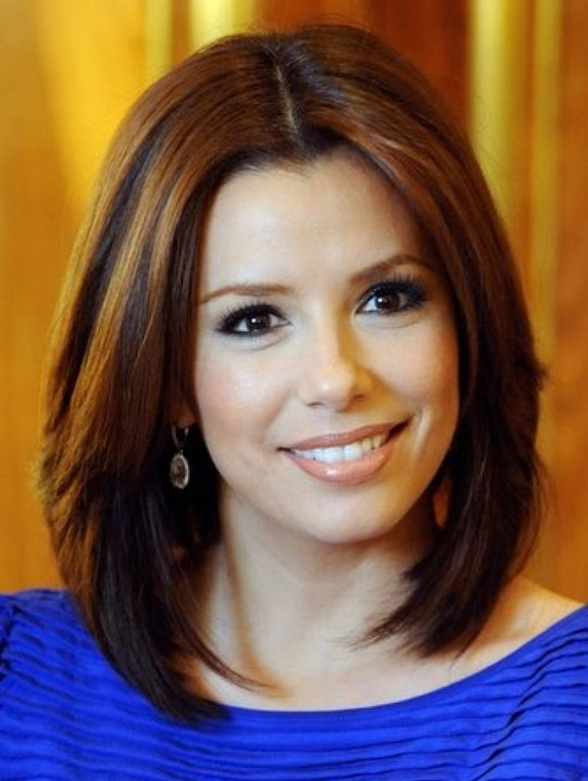 Trendy Medium Bob Hairstyles for Straight Hair, Eva Longoria Hair Cut