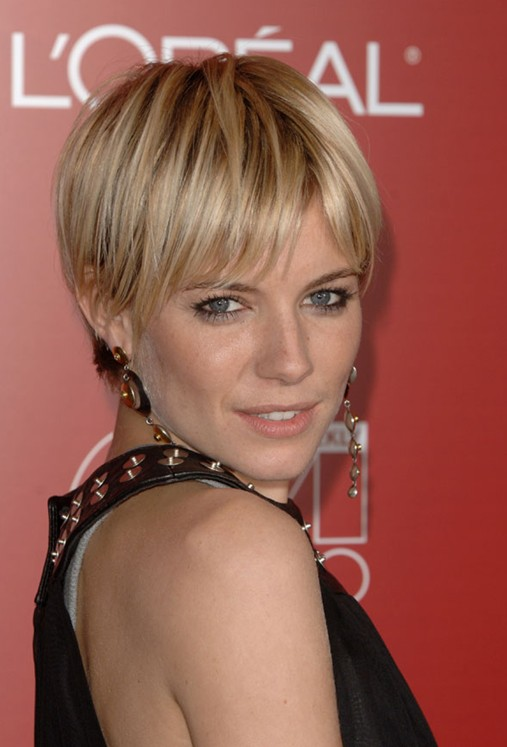 Very Short Hairstyles For Straight Hair Sienna Miller