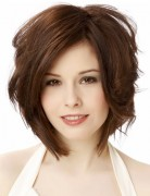 2014 Curly Stacked Bob Haircut for Women