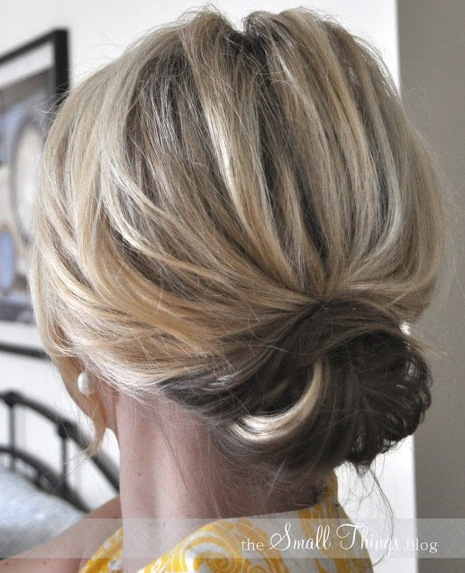 Hairstyles For Long Hair Easy Updos : 2014 Cute Easy Updo Bun for Medium Hair - PoPular Haircuts