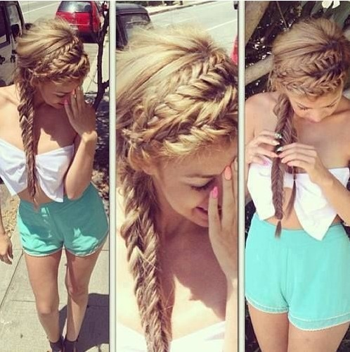 2014 Cute Hairstyles for Girls: Braided Long Hair Styles