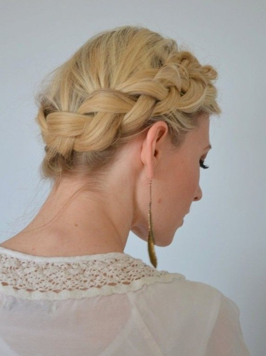 2014 Easy Braided Updo Hairstyles For Prom Popular Haircuts