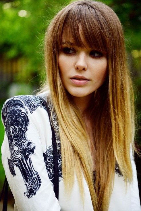 2014 Long Hairstyle - Straight Brown Ombre Hair