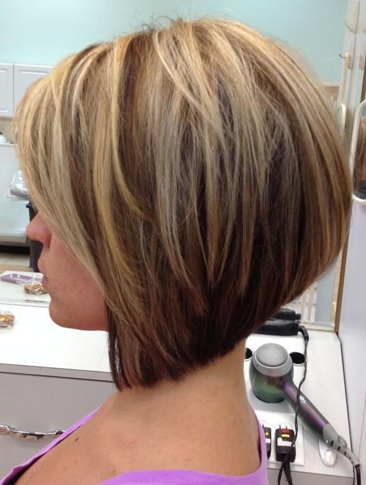 2014 Stacked Bob Haircut for Straight Hair