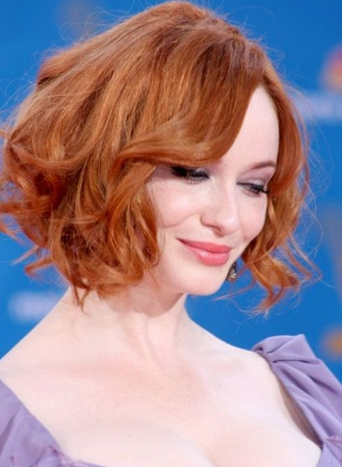 2014 Wavy Curly Bob Haircuts For Short Hair Popular