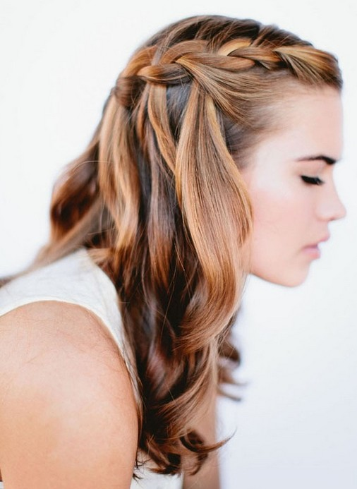 Picture of Cute Braided Hairstyles for Girls: Waterfall Braid/ oncewed ...