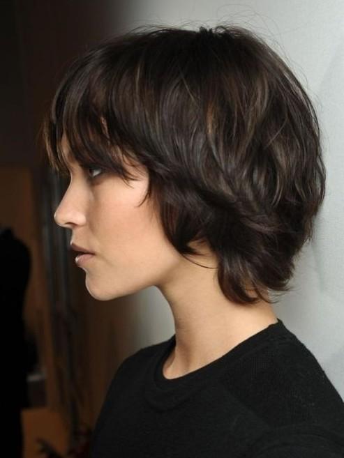 Dark Brown Hairstyles for Short Hair - Cute Easy Haircut