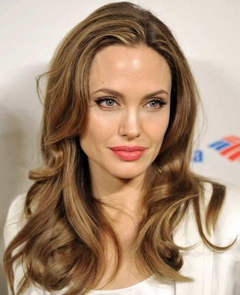 Easy Long Hairstyle Angelina Jolie Hairstyles PoPular