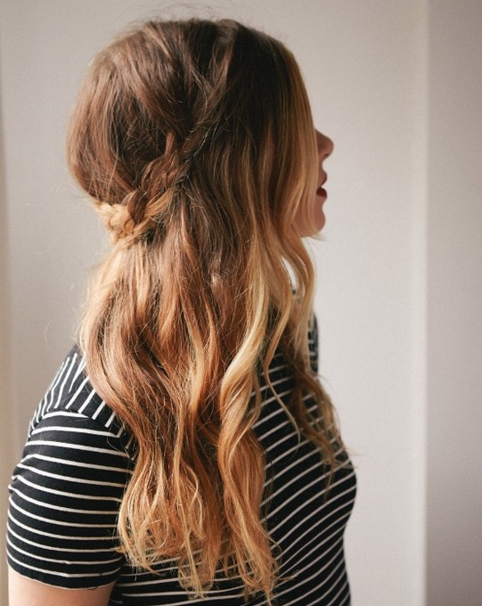 Cute Long Hairstyles Half Down French Braid Popular Haircuts