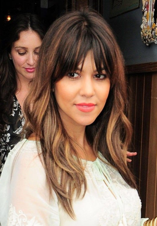 Kourtney Kardashian Hairstyles Long Straight Hair With