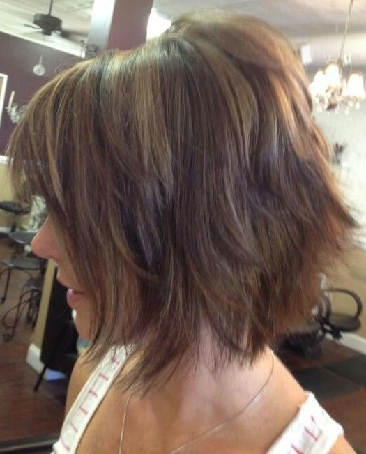 Ombre Shaggy Bob Haircut Ideas