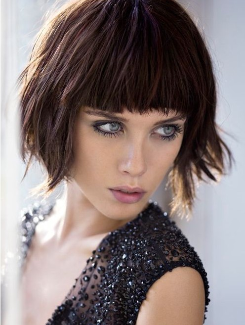 Shaggy Bob Haircuts with Blunt Bangs | PoPular Haircuts