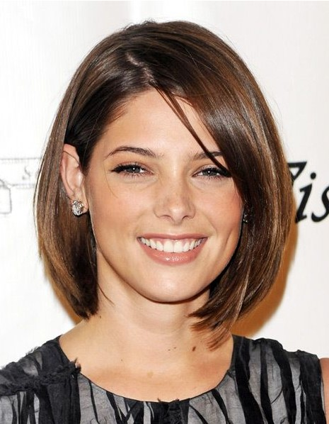 Strange Short Straight Bob Haircuts 2014 Ashley Greene Hairstyle Short Hairstyles Gunalazisus