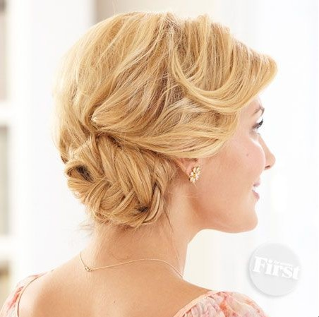 Simple Braided Updos Hairstyle