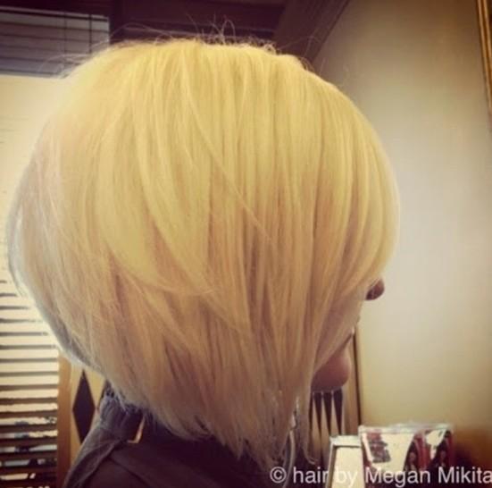 Short Hair Stacked Bob Haircut