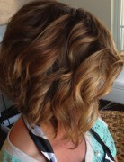 Stacked Curly Bob Haircut