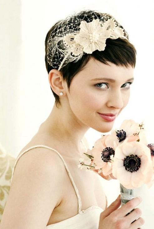 Wedding Hair Styles for Short Hair 2014