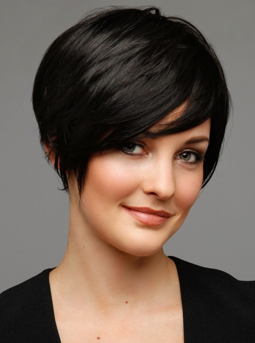 Hairstyles Short Hair pastel toned short hairstyle with fringe side Women Hairstyles For Short Hair 2014