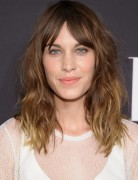 2014 Alexa Chung Haircuts: Medium Ombre Hair Style