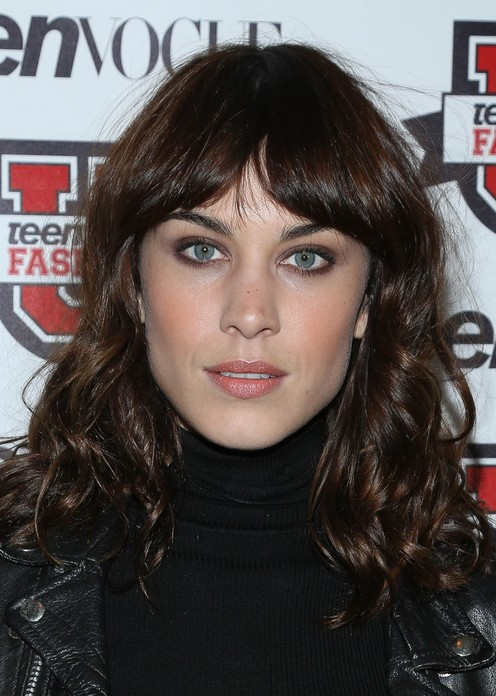 2014 Alexa Chung Hairstyles Long Curly Hair Popular