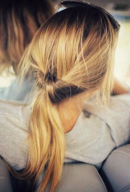 2014 Cute Ponytail Hairstyles: Inside Out Ponytail Hairstyle