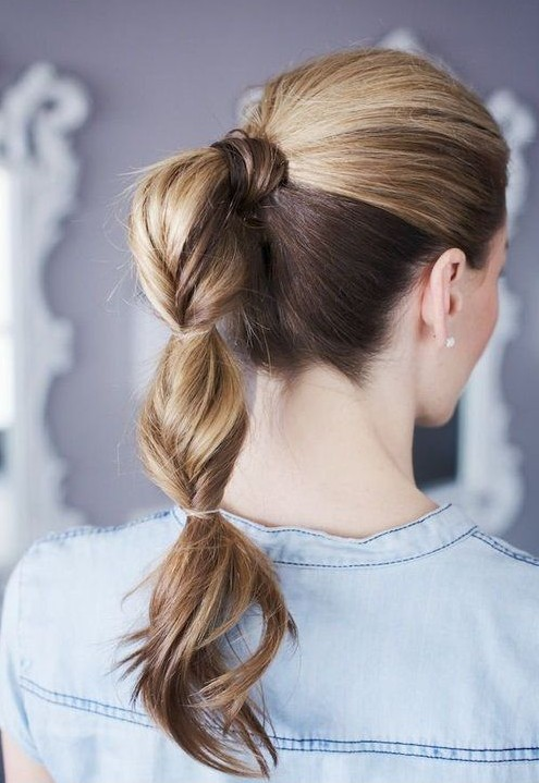 2014 Cute Ponytail Hairstyles: Twisted Ponytail Hair Style