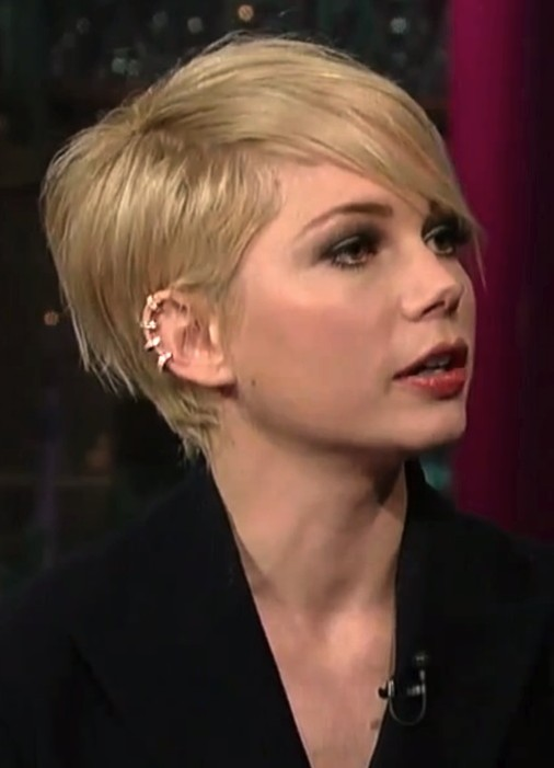 2014 Michelle Williams Short Hair Styles Pixie Haircut