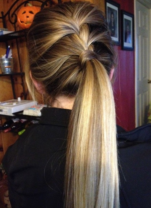 2014 Ombre Hair: Polished Low Ponytail Hairstyle