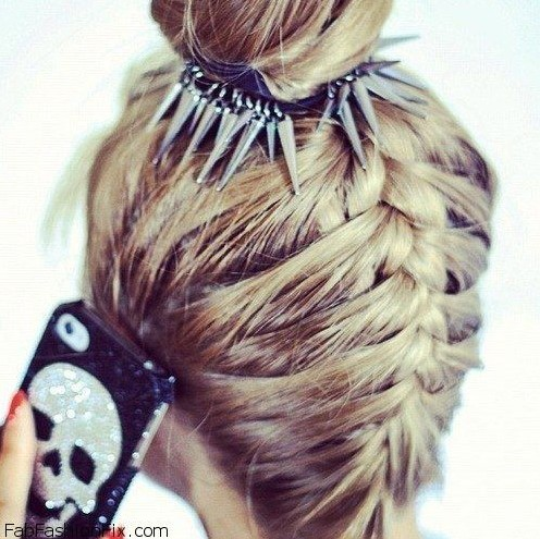 2014 Prom Hairstyles: Upside down French braid