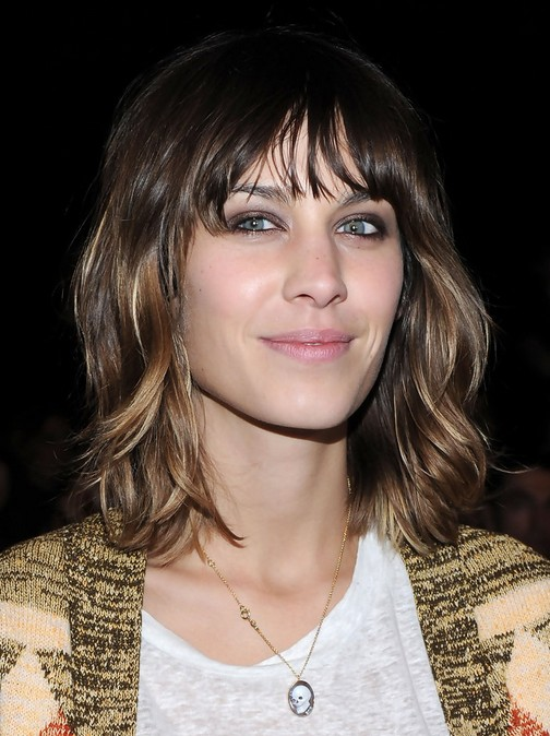 Alexa Chung Hair Cuts Layered Neck Length Hairstyle