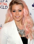 Amelia Lily Long Hairstyles: Stylish Pink Color