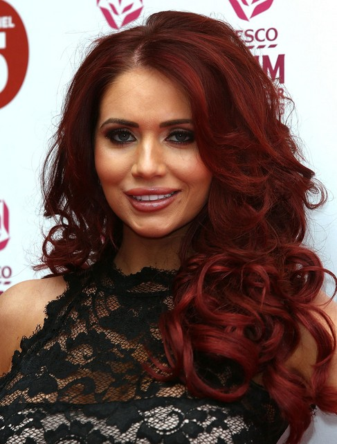 Amy Childs Hair Styles 2014: Red Long Curly Hairstyle