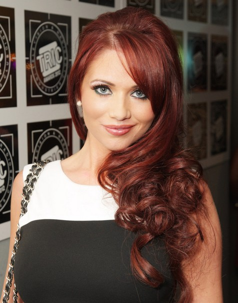 Amy Childs Long Hairstyles: Chic Curls