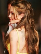 Angelina Jolie Hairstyles: Half Up Half Down Hairstyle for Long Hair