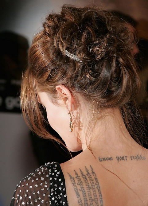 Angelina Jolie Long Hair Styles: Retro Inspired Updo