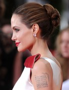 Angelina Jolie Long Hairstyles: Tight Bun Updos