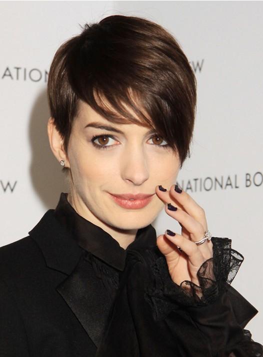 Anne Hathaway Short Hairstyles: Cute Pixie Haircut for 2014